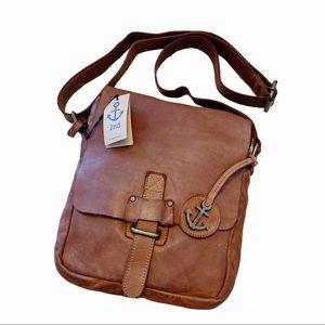 Harbour 2nd Mieke Leather Messenger Crossbody Bag